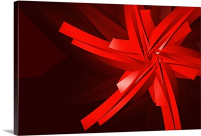 a red abstract shape