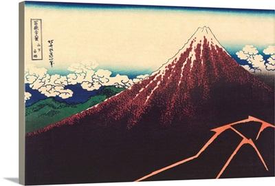 A Shower Below The Summit By Katsushika Hokusai