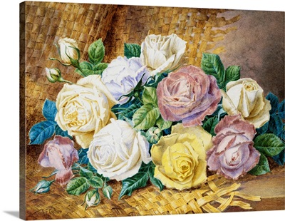 A Still Life Of Roses By Thomas Frederick Collier