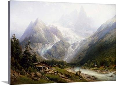 A View Of Chamonix And Mont Blanc By Joseph Jansen