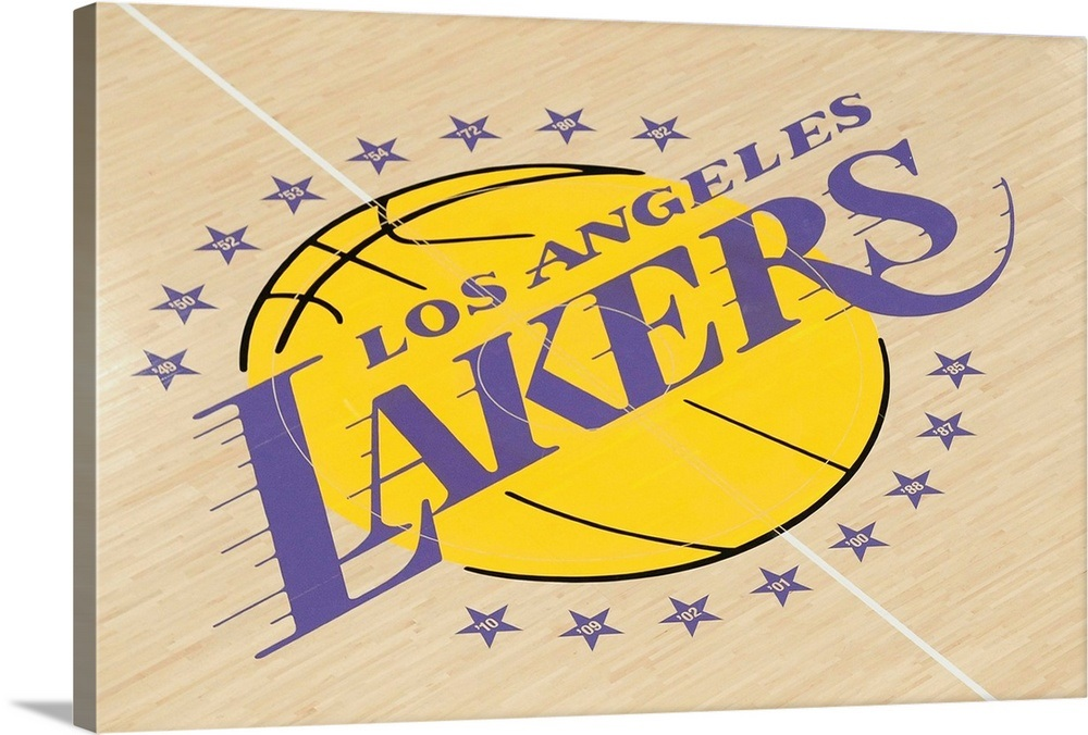 A view of the Los Angeles Lakers logo Wall Art, Canvas ...