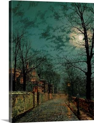 A Wet Winter's Evening by John Atkinson Grimshaw