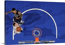 Aaron Gordon of the Orlando Magic goes up for a dunk against the Memphis Grizzlies