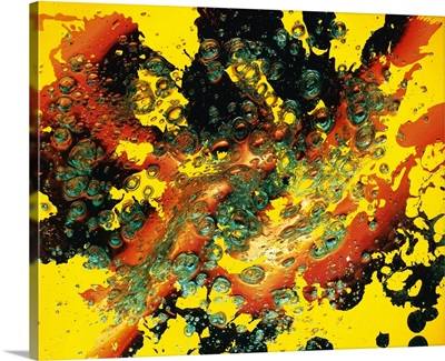 Abstract background, acrylic object