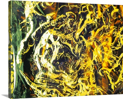 Abstract background, crumpled acrylic object