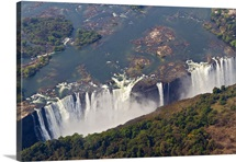 Zambia wall art canvas prints zambia panoramic photos posters aerial of victoria falls zambia africa publicscrutiny Images