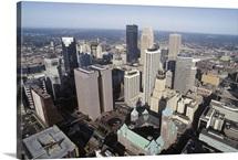 Aerial view of downtown Minneapolis, Minnesota