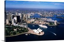 Aerial view of Sydney Opera House, Sydney, Australia
