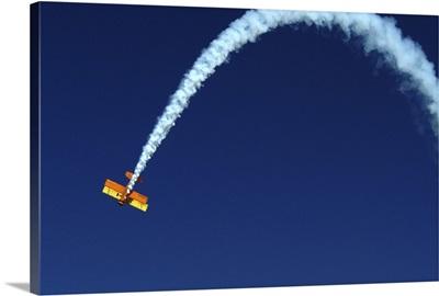 Aerobatic stunt at air show in Reno, Nevada, USA