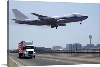 Airplane at mid-air