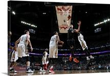 Alex Len of the Phoenix Suns shoots the ball against the New Orleans Pelicans