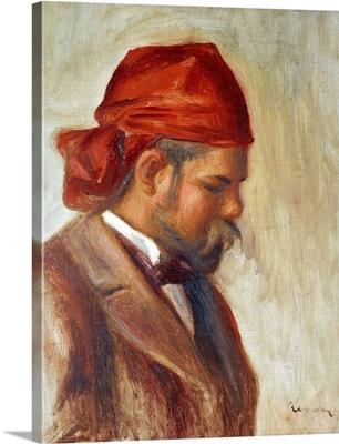 Ambroise Vollard in a Red Scarf by Pierre-Auguste Renoir