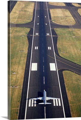 An Airplane in the runway