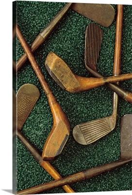 Antique golf clubs