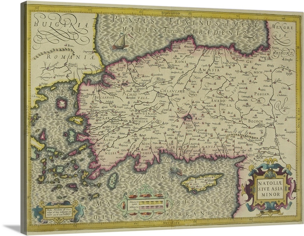 Map Of Asia Minor.Antique Map Of Asia Minor