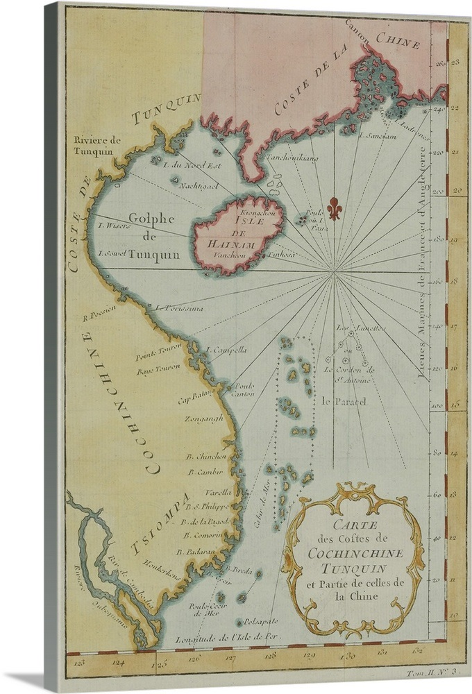 Map Of Asia Gulf Of Tonkin.Antique Map Of The Gulf Of Tonkin In Southeast Asia