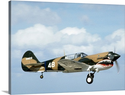 Antique military fighter plane