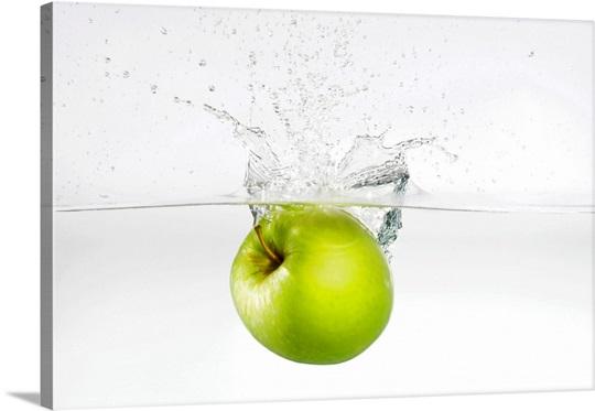 Apple in water