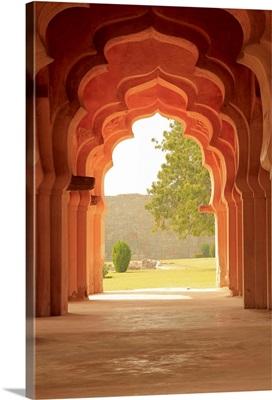 Arches of Lotus Temple, Hampi, Karnataka, India.