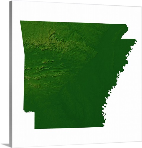 Arkansas topographic map Wall Art, Canvas Prints, Framed Prints ...