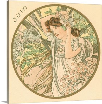Art Nouveau Juin (June)