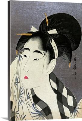 Ase O Fuku Onna (Woman Wiping Sweat) By Kitagawa Utamaro