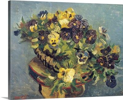 Basket Of Violets On A Table By Vincent Van Gogh