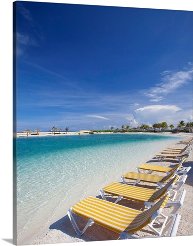 Beach Lawn Chairs Tropical Water