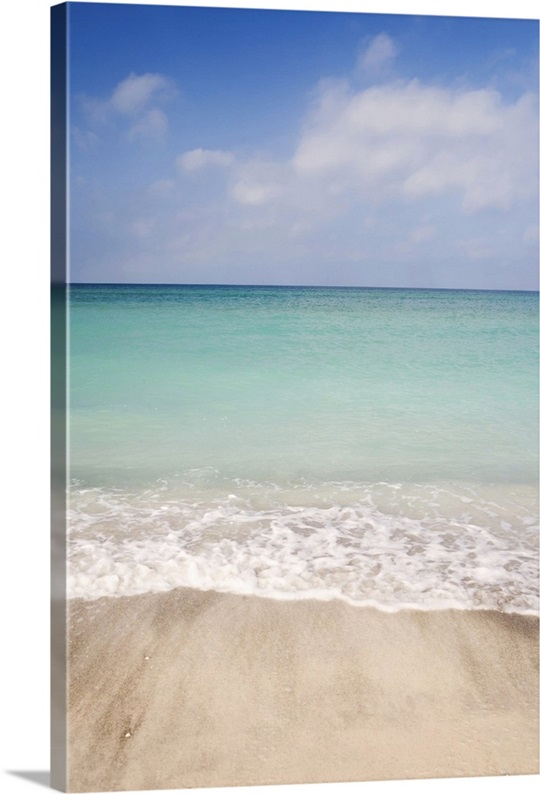 Sarasota florida wall art beach scene with blue sky turquoise water and white sand sarasota florida canvas