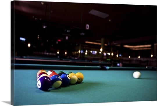 Billiards balls on table Wall Art, Canvas Prints, Framed Prints ...