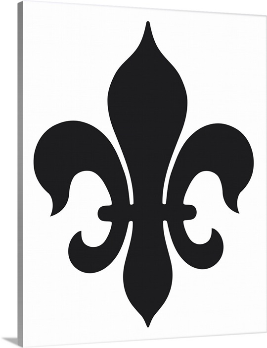 Außergewöhnlich Black and white illustration of fleur de lys symbolic of the Holy #CN_67