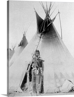 Black Foot North American Indian with teepee