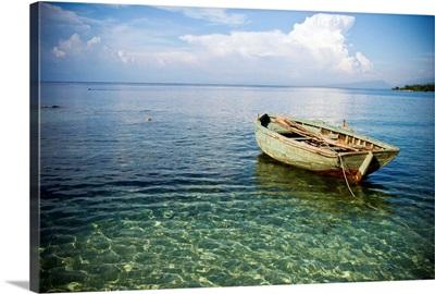 Boat in shallow water, Haiti