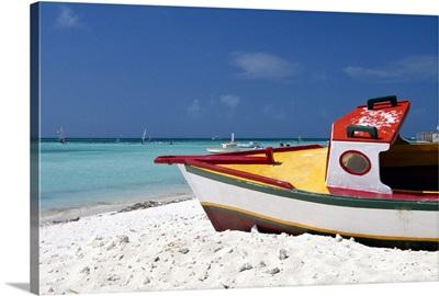 Boat on Arashi Beach, Aruba