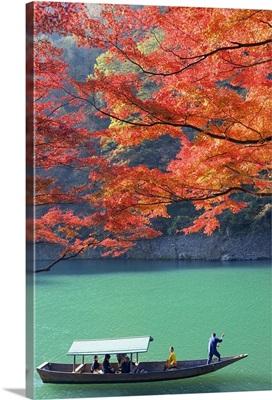 Boat ride at Arashiyama, Kyoto Prefecture, Japan