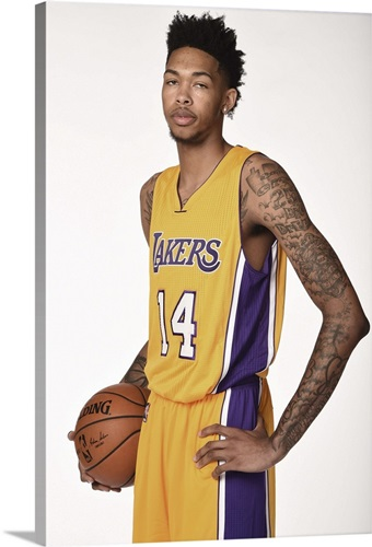 Brandon Ingram 14 of the Los Angeles Lakers poses for a portrait ...