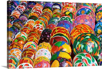 Brightly Painted Bowls In Mexico