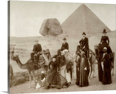 British Tourist Visiting The Pyramids Of Giza