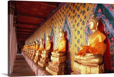 Buddha in a row
