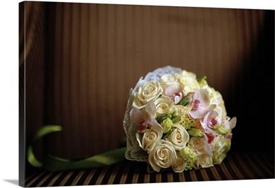 Bunch of wedding flowers.