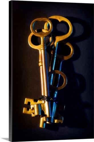 Bundle of old skeleton keys Wall Art, Canvas Prints, Framed Prints ...