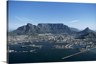 Capetown, aerial view, South Africa