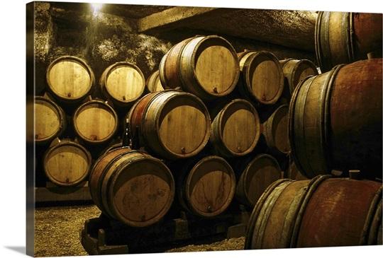 Cellar of barrels