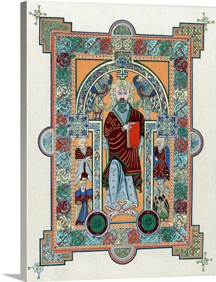 Celtic manuscript depicting St. Matthew
