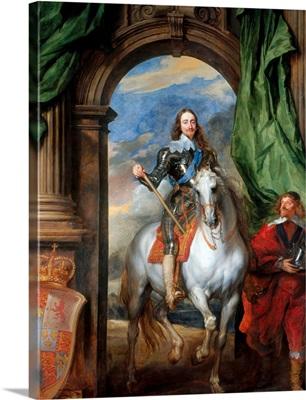 Charles I With Monsieur De St Antoine By Anthony Van Dyck