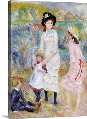 Children On The Seashore, Guernsey By Pierre-Auguste Renoir