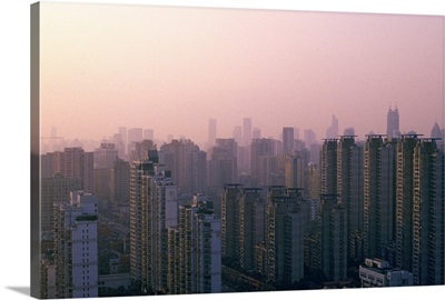 Cityscape in sunset, Shanghai, China