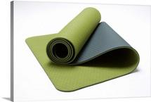 Close-up of a green exercise mat