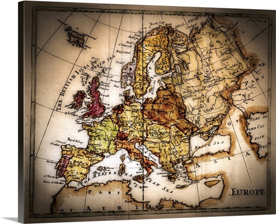 Close up of antique world map wall art canvas prints framed prints close up of antique world map gumiabroncs Gallery