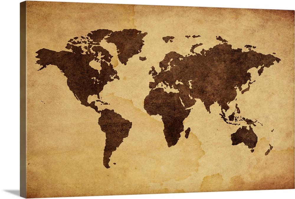 World map art roho4senses world map art gumiabroncs Gallery